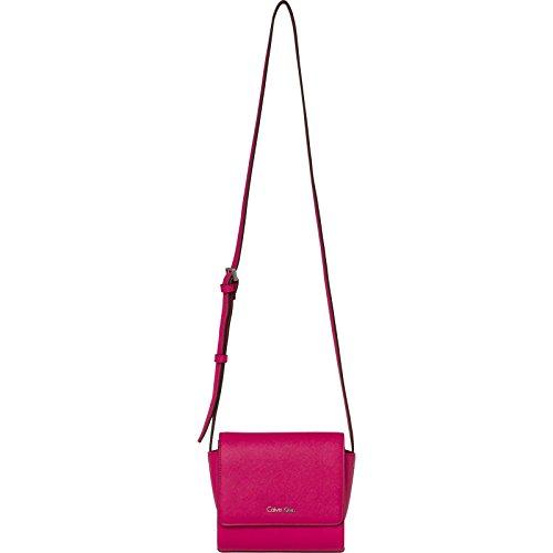 Calvin Klein Damen M4rissa Flap Crossbody Umhängetasche, Rot (Bright Rose), 16.5x0.25x9 cm
