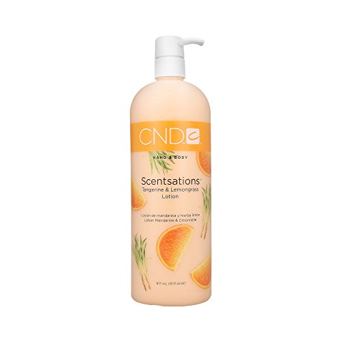 CND Creative Scentsations Hand & Body Lotion Tangerine & Lemongrass - 31 oz by CND (English Manual) - Scentsations Lotions