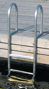 Dock Edge Stufe 3 fest verschweißten Dock Leiter-Metallic