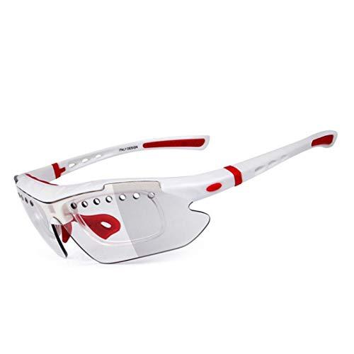 MaxAst Schießbrille Taktisch Motorradbrille für Brillenträger Schutzbrille Rotlichtlampe Weiß
