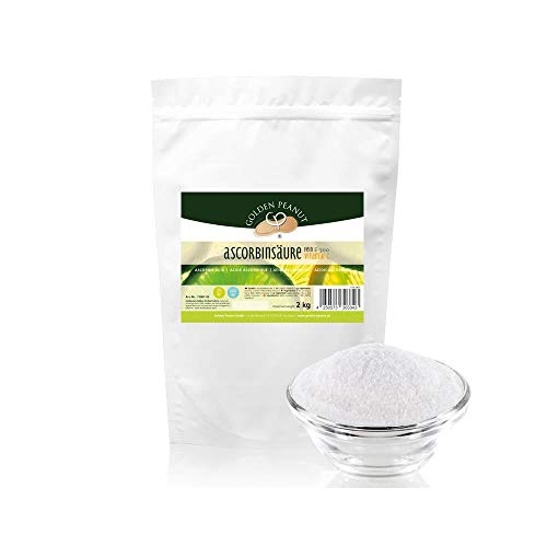 Ascorbinsäure 2kg fein Vitamin C 100% E 300 NON GMO -