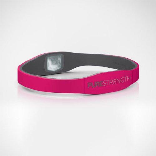 "PURESTRENGTH Sport- und Energiearmband \""PURE\"" Serie (pink-grau, S)"