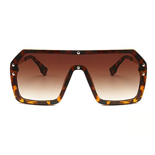 GAOHAITAO Oversized Shield Visor Sunglasses Women Large Size Sunglasses Men Transparent Frame Big Windproof Glasses,Leopard Tea Leopard-visor
