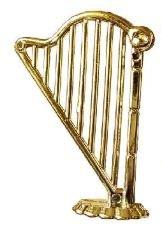 Unbekannt 1:12 Harfe für Puppenhaus Goldfarben Metall Puppenharfe Puppenmöbel Puppenhaus