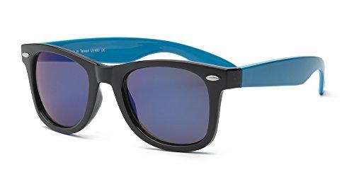 Swag Lunettes de soleil enfant Taille 10+ Bleu Noir/bleu fluo Noir/bleu fluo