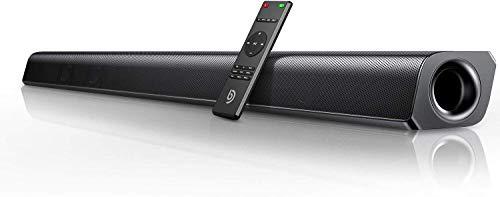 BOMAKER Barre de Son sans Fil 2.0 Canal HDMI Haut-Parleur 110 DB 37 Pouces pour TV Bluetooth 5.0 Son stéréo DSP 80 W avec AUX, USB, HDMI, OP