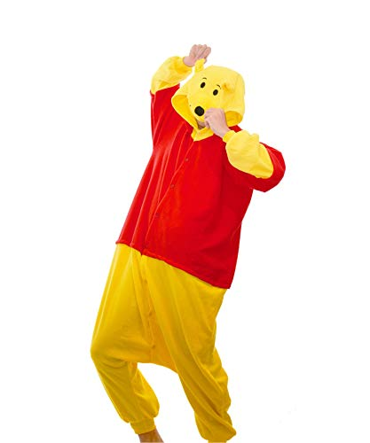 Funkey-Munkey Schlafanzug, unisex, Cosplay, Kostüm, mit Kapuze, Tier Gr. XL, Winnie-the-Pooh