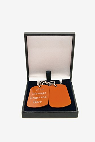 i orange Dog Military Army ID-Tags in Geschenkbox mit gratis Gravur ()