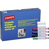 Weißwandtafel-Starter-Set Marker, Tafellöscher Magnete VE=1