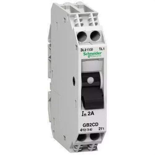 Schneider Electric GB2CD09 Tesys Gb2, Disyuntor Magnetotérmico, 1P + N, 4 A, Id = 52 A