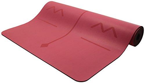 Bean Produkte Original omphibian Yoga Matte-Die Best, rutschfestes (Nass oder Trocken) umweltfreundlichem Naturkautschuk Basis Yogamatte aus, OM RED, 1/4x26x72 (Yoga-matte Bean)