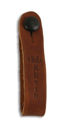 CF Martin Gitarrengurt-Schlaufe für Akustikgitarre (zur Befestigung am Gitarren-Kopf, aus Leder, mit Knopf) Braun (Baja Leder)