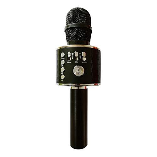 (YOMRIC Drahtloses Bluetooth Karaoke-Mikrofon, 3-in-1 tragbare Handheld-Karaoke Mic Thanksgiving Geschenk Home Party Geburtstag Lautsprecher Maschine (Farbe : T4))