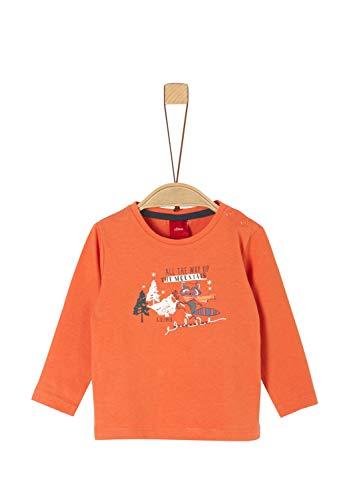 s.Oliver Baby-Jungen 65.909.31.8916 T-Shirt, (Orange 2370), (Herstellergröße: 86)