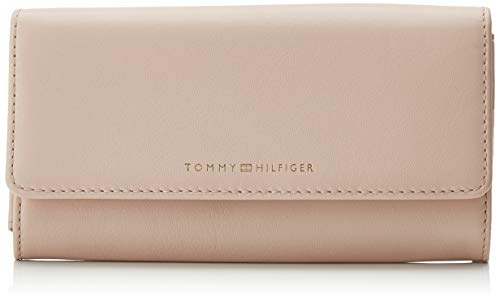 Tommy Hilfiger Damen Classic Leather Lrg Za W/flap Bl Geldbörse, Pink (Blush) 2.5x10.5x19 cm -