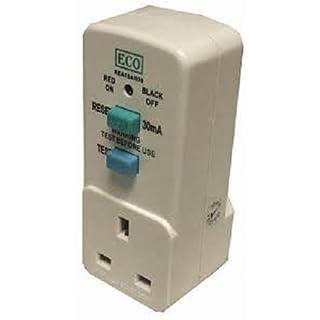 Garden Tool Mower Safety Power Breaker RCD 3 Pin Plug Adaptor