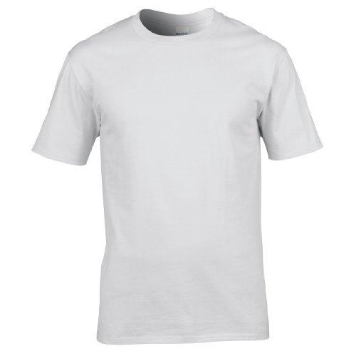 Gildan Premium T-Shirt für Männer (2XL) (Weiß) XXL,Weiß
