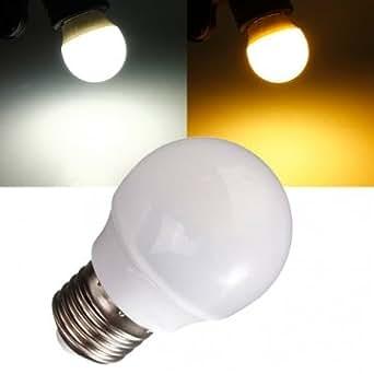 Bheema e26 3w blanc chaud ac / blanc 110-120V 8 cms ampoule 2835 LED globe