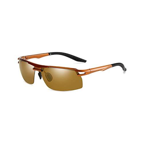 FGRYGF-eyewear2 Sport-Sonnenbrillen, Vintage Sonnenbrillen, Mens Vintage TR90 HD Polarisiert Sunglasses Night Vision Retro Sun Glasses Spiegel Lens Driving At Night For Men Women UV400 Tea Tea