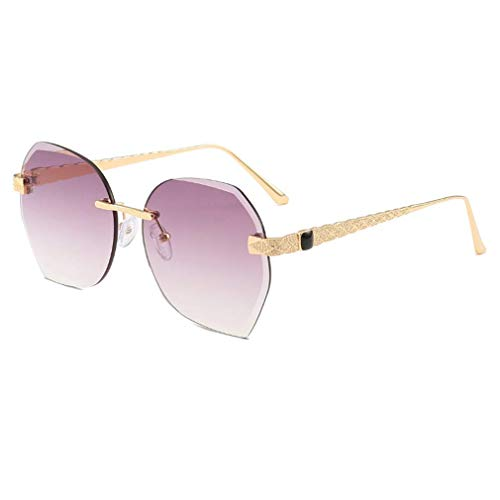 EYEphd Rahmenlose Damensonnenbrille, seitlicher Schnitt und UV 400-Schutz für Freizeit und Urlaub,07