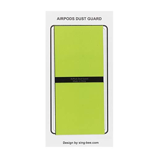 Kathope 2 Pairs Staubschutz Schutz Aufkleber Kopfhörer Case Shell Haut Staubdicht Für Apple Airpods Lade Box -
