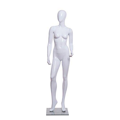 Loutoff manichino donna manichini femminile senza viso bianco lucido 178cm LEM14-W