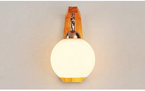 XW Moderne Nachttisch-wandleuchte Einfache Kreative Massivholz Led Energiesparende Schlafzimmer Wohnzimmer G?nge Korridor Hotel Hotel...