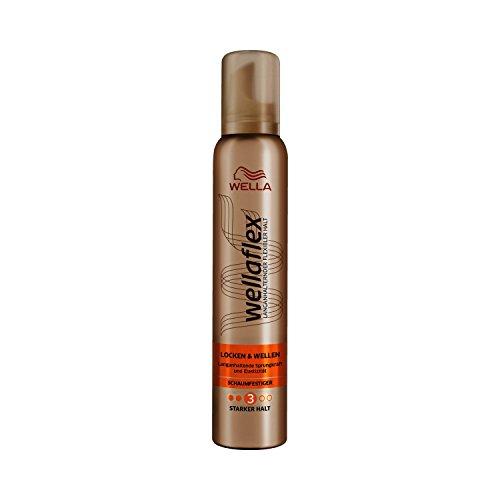Wella Wellaflex Locken & Wellen Schaumfestiger für starken Halt und langanhaltende Sprungkraft & Elastizität, 6er Pack (6 x 200 ml)