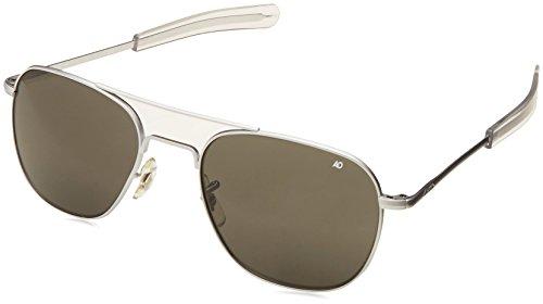 American Optical Original Pilot Bajonett 55mm Chrom matt TC grau Sonnenbrille