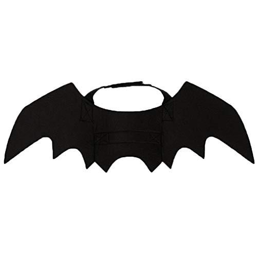 (Halloween Haustier Hund Kleidung Vampir Flügel Maskerade Kostüm Schläger Flügel Katze und Hund Halsumfang 24-36 cm Büste 36-42 cm)