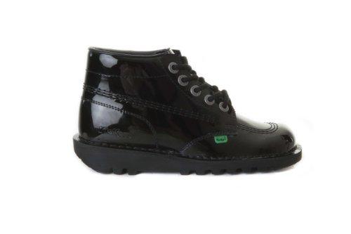 Jugend Schwarz Patent Leder Schuhe (Kickers Kick Hi Schuhe Patent Leder schwarz für die Jugend KF0000579BXW, Schwarz - schwarz - Größe: 39)