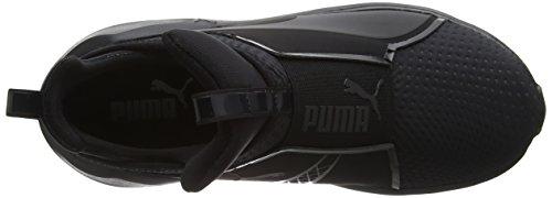 Puma Damen Fierce Quilted High-Top Schwarz (Puma Black-Puma Black)