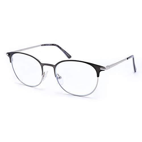 VECIEN Computerbrille mit Blaulichtfilter, Blaulicht-Schutzbrille, Metallrahmen für Stressabbau, Geeignet für PC-Mobiltelefone, Reduziert die Überanstrengung der Augen und verbessert den Schlaf. -