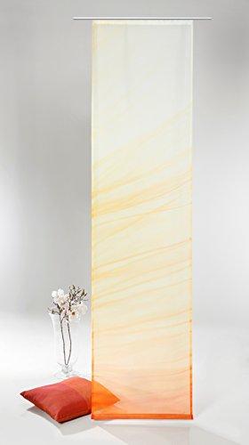 fashion and joy Fashion&Joy - Flächenvorhang mit hochwertigem Fotodruck HxB 245x60 cm inkl. Zubehör - Schiebevorhang Makroaufnahme Blume im Sonnenaufgang Schiebegardine Typ408