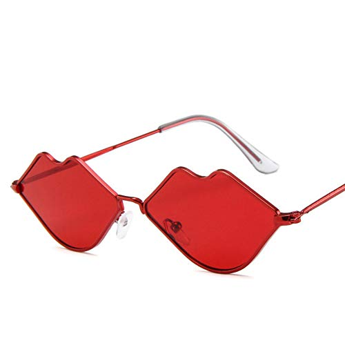 MINGMOU Sexy Rote Lippen SonnenbrilleHippie Vintage Sonnenbrille Für Frauen Festival Rave PartySonnenbrilleDamen Brillen