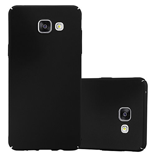 Cadorabo Hülle für Samsung Galaxy A3 2016 (6) - Hülle in Metall SCHWARZ - Hardcase Handyhülle im Matt Metal Design - Schutzhülle Bumper Back Case Cover Samsung-metal-handy