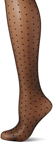 COLLANT DONNA INTRIGUE FANTASIA A POIS CON RIGA POSTERIORE 20 DEN A5001 FIORE (3,NERO)