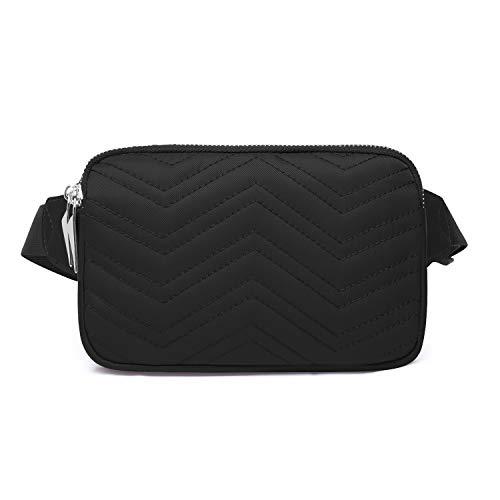 Wind Took Mode Damen Gürteltasche Bauchtasche Hüfttasche für Reise Alltag Outdoor Kein, 23 x 3 x 13 cm, Schwarz
