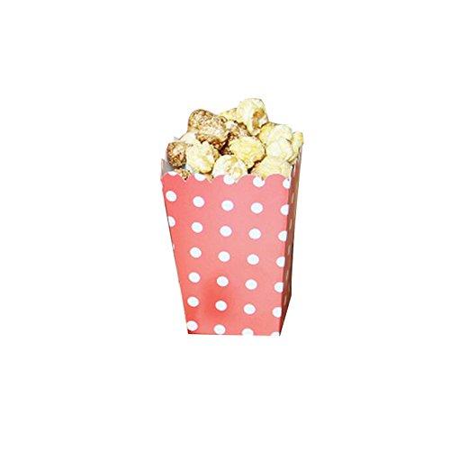 Black Temptation Film-Theater Popcorn-Boxen Party-Boxen - Roter Wellenpunkt - 12PCS