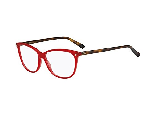 Dior Brillen Für Frau CD3270 QYB, Red / Tortoise Kunststoffgestell, 55mm