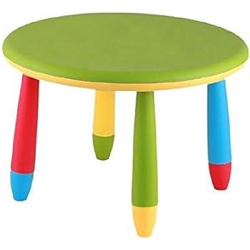 9d13a668101b45 Mueblear 90050 Table Ronde pour Enfant Plastique Vert 30 x 15 x 48 ...
