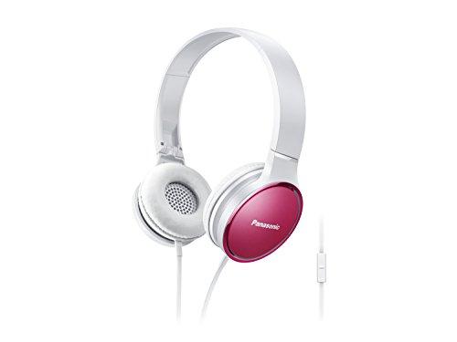 Panasonic RP-HF300ME-P On-Ear Kopfhörer (Mikrofon, Controller, zusammenfaltbar, 10-25.000 Hz, 1,2 m Flachbandkabel) rosa Panasonic System Controller