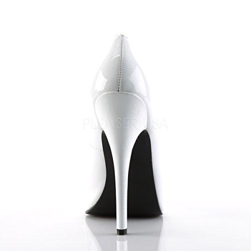 Pleaser , Escarpins pour femme Blanc - White Patent