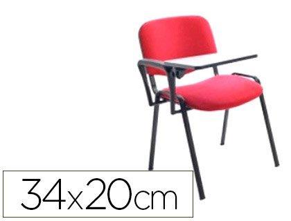 Rocada RD-977 - Pala escritura para silla confidente plegable, color negro