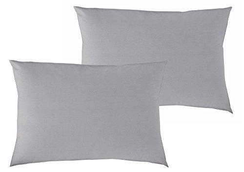 P'tit Basile - Lot x2 Taies d'oreiller bébé - dimensions 40x60 cm - Coloris Taupe - Coton biologique de qualité supérieure, 57 fils/cm2, Tissage serré pour plus de douceur.