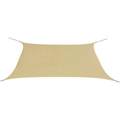 vidaXL Sonnensegel Rechteckig 2x4m Beige Sonnenschutz Sonnendach Beschattung