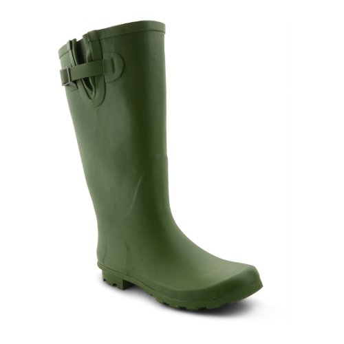 Footwear Sensation , Damen Jagdstiefel Green Wide Fit