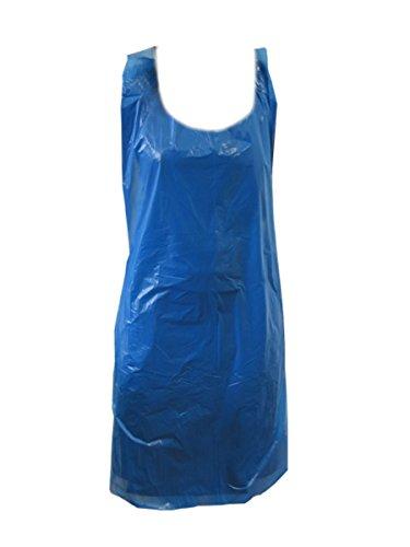 400Strong Einweg-Kunststoff-Schürzen 27x 42blau 20Micron Polyethylen-Küche Reinigung Speisen, body Kleidung Schutz Allgemeinen Gebrauch - Kunststoff-einweg-schürze