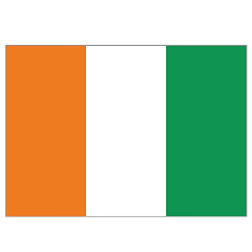 Supportershop Drapeau Côte d'Ivoire polyester avec 2 œillets metalliques - 150 x 90 cm Supportershop