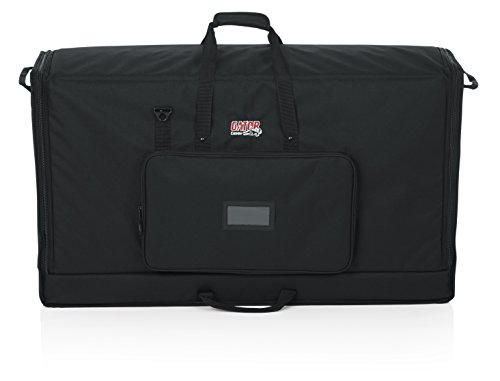 """Gator Padded Nylon Dual Carry Tote Bag for Transporting (2) LCD Screens, Monitors and TVs Between 40\"""" - 45\""""; (G-LCD-TOTE-LGX2)"""